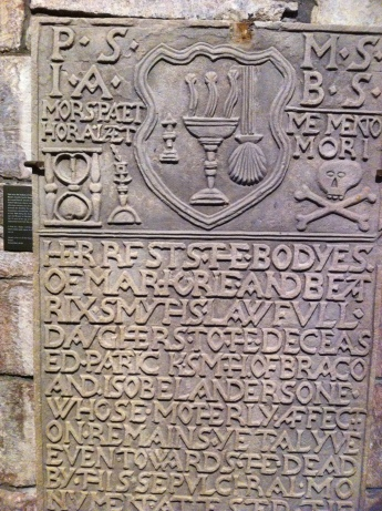 Gravestone in Saint Magnus Cathedral