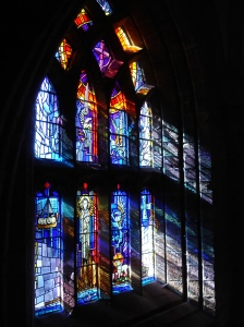 Stained glass window in Saint Magnus Cathedral