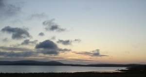 Loch of Stenness at sunset