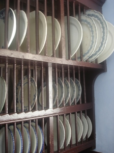 Rack for draining dishes in the scullery