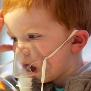 Thomas with nebuliser